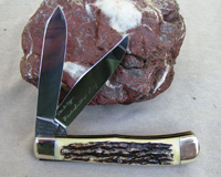 Bulldog Brand Transition Prototype Winter Bottom Stag Trapper Knife