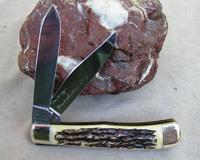 Bulldog Brand Transition Prototype Winter Bottom Stag Trapper Knife