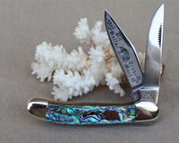 Bulldog Brand Heart Abalone Copperhead Knife