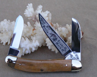 Bulldog Brand Mastodon Bark Ivory Kentucky Derby Sowbelly Knife