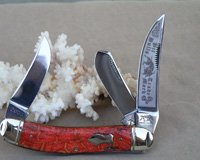 Bulldog Brand Apple Coral Cuttin' Horse Sowbelly Knife