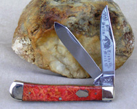 Bulldog Brand Apple Coral Trapper Knife - Heraldic Shield