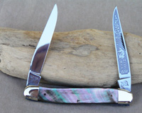 Bulldog Brand Black Lip Pearl Muskrat Knife
