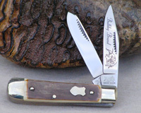 Bulldog Brand Mammoth Ivory Baby Bullet Trapper Knife