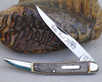 2005 Bulldog Brand Bark Mammoth Ivory Toothpick Knife