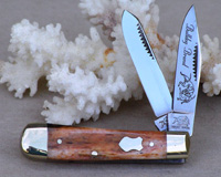 Bulldog Brand Brown Giraffe Bone Baby Bullet Trapper Knife