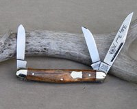 Bulldog Brand Brown Giraffe Bone Stockman Knife