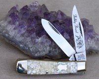 Bulldog Brand Chip Abalone Baby Bullet Trapper Knife