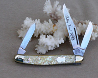 2005 Bulldog Brand Chipped Abalone Stockman Knife
