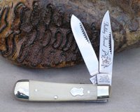 2005 Bulldog Brand Mammoth Ivory Baby Bullet Trapper Knife