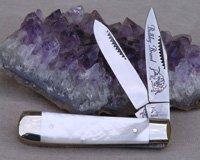 Bulldog Brand Pearl Baby Bullet Trapper Knife