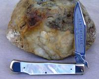 Bulldog Brand Lewis and Clark Swing Guard AAA Pearl Production Knife