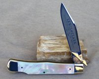 Bulldog Brand Lewis and Clark Swing Guard AAA Pearl Prototype Knife