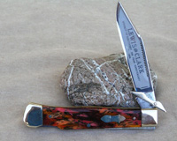 Bulldog Brand Lewis and Clark Swing Guard Hummingbird Celluloid Knife