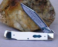 Bulldog Brand Lewis and Clark Swing Guard Interior Mastodon Ivory Prototype Knife