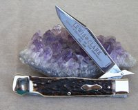 Bulldog Brand Sambar Stag Lewis and Clark Swing Guard Knife