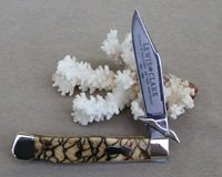 Bulldog Brand Customized Tiger Coral Swing Guard Knife