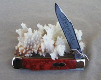Bulldog Brand Customized Apple Coral Swing Guard Knife