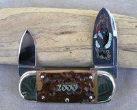 Bulldog Brand Mastodon Bark Ivory Baby Sunfish Knife