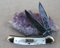 Bulldog Brand Genuine Pearl Copperhead Knife