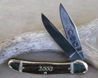 Bulldog Brand Genuine Stag Copperhead Knife