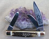 Bulldog Brand Genuine Stag Stockman Knife