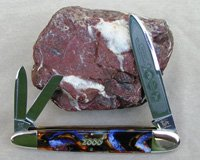 Bulldog Brand Purple Swirl Anglo-Saxon Whittler Knife
