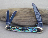 Bulldog Brand Abalone Viking Warncliff Whittler Knife