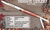 892309 GEC Melon Tester Whittler Knife
