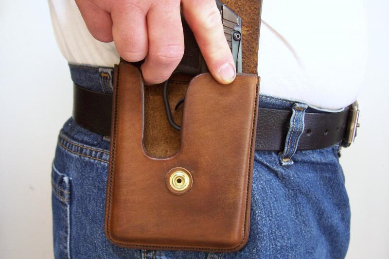 Item #: 26119 - Custom Leather Concealment Holster - Keltec P3AT,Ruger ...