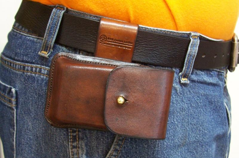 Leather Cell Phone Case- Brown Oil Stain - Leather Drop Belt Loop ...