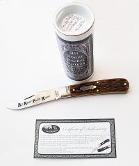 2016 AAPK Brand Jigged Antique Autumn Bone Stallion Knife
