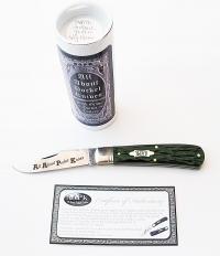 2016 AAPK Brand Jigged Antique Green Bone Stallion Knife