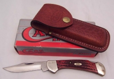 DR6104L Jigged Wood Lockback Knife