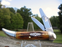 GEC Powderhorn #121211 Natural Stag Front