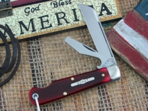 "GEC  (SFO) #153215CL ""Scout"" Blood Red Saw Cut Bone****"